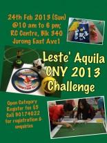 Leste' Aquila CNY 2013 Challenge