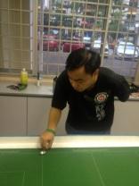 Rizal trying his shots ...