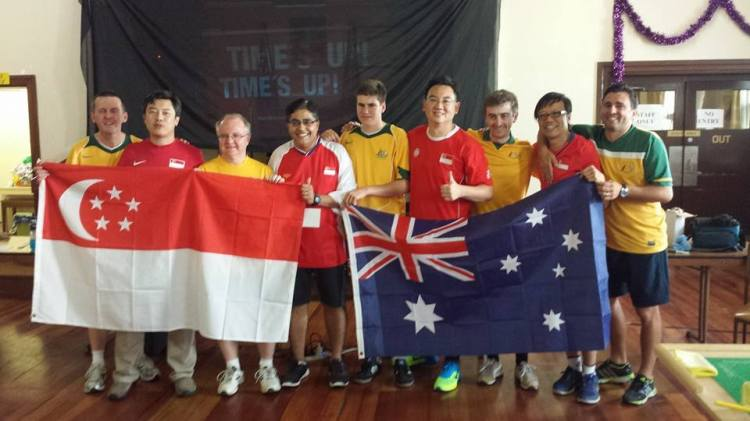 Singapore defeated Australia 2-1 in Melbourne during the Asian Cup of Table Football 2015