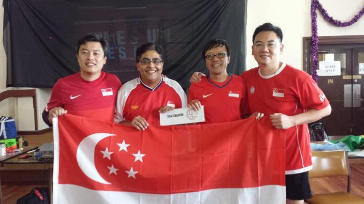 Team Singapore at the Asian Cup of Table Football 2015