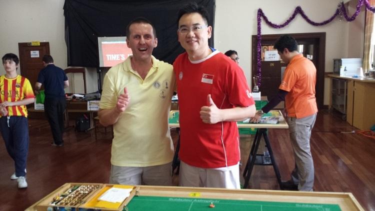 Robert Green (left) vs Bernard Lim (right)