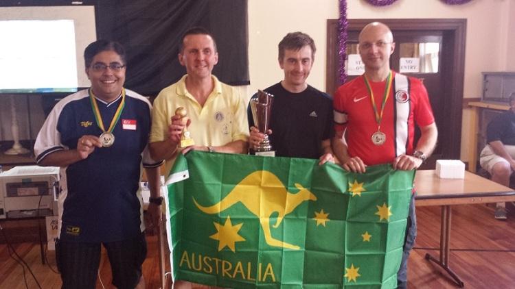 (L-R): Vikas (Semi-Finalist), Robert (Runner-Up), Peter (Champion), Antonio (Semi-Finalist)