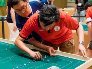 Intense Concentration from the players - Japan vs Singapore